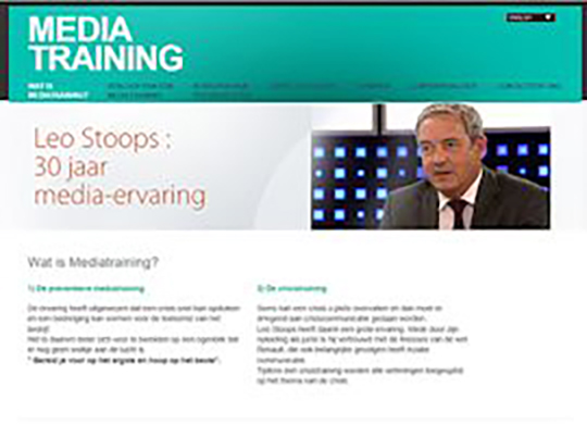 Mediatraining Leo StoopsAanmaak website
