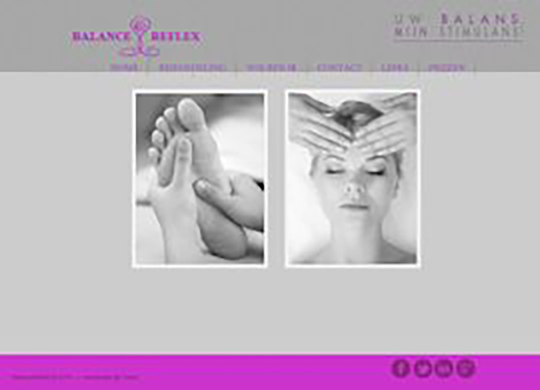 Balance Reflex Aanmaak website