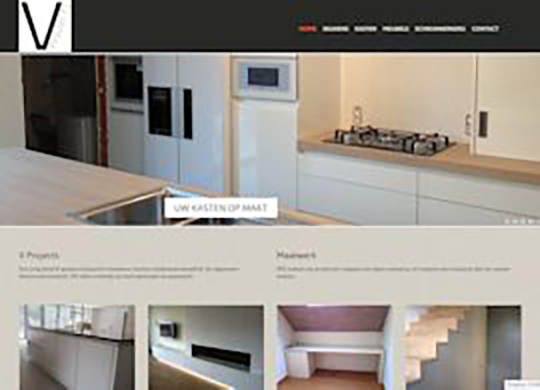 V Projects bvba Restyling website