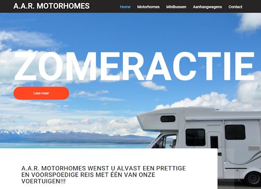 AAR-motorhomes Aanmaak website