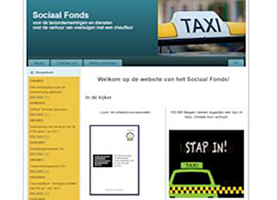 Sociaal fonds TaxiWebsite