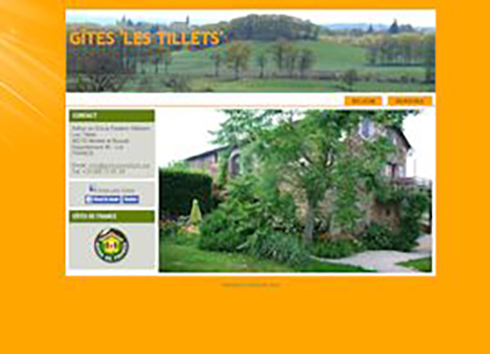 Gites Les Tillets Website