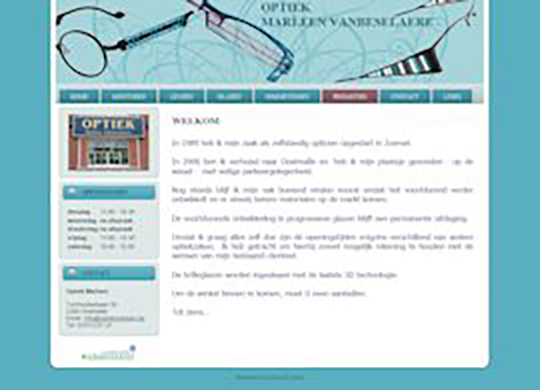 Optiek Marleen Website