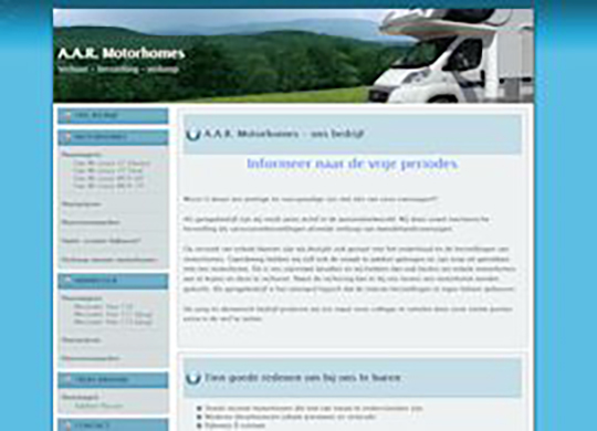 Aar-motorhomes Website