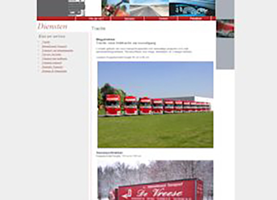 De Vreese Transport Website
