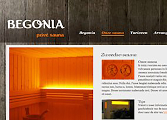 Prive sauna BegoniaWebsite